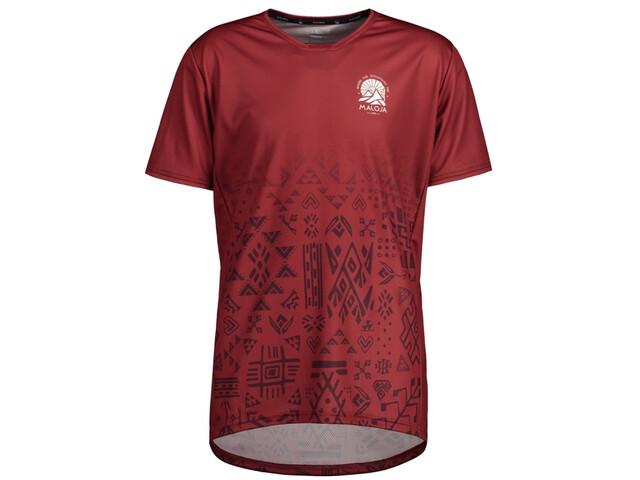 Maloja GuaudM. Multi 1/2 Multisport t-shirt Herrer, red monk